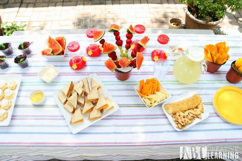 Backyard Gardeningn Party Food