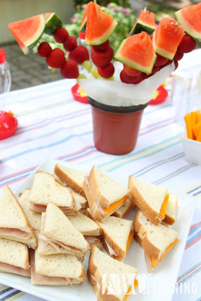 Backyard Gardeningn Party Snacks