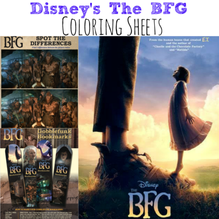 Disney's The BFG Coloring Sheets #TheBFG