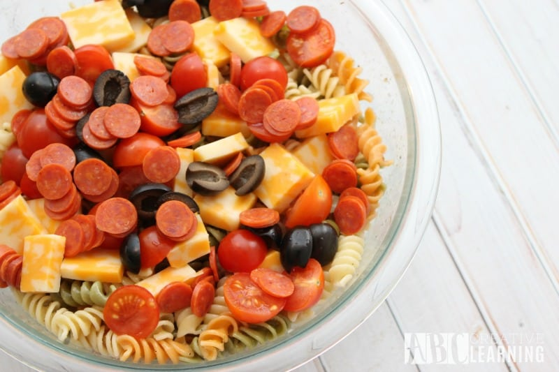 Easy Italian Pasta Salad Homemade