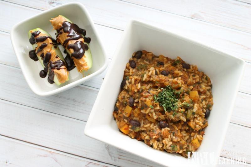 Easy Summer Skillet Meals and Dessert both