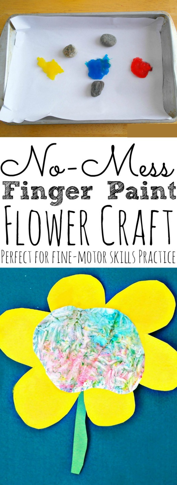 Finger Paint Flower Craft