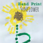 Handprint Sunflowers