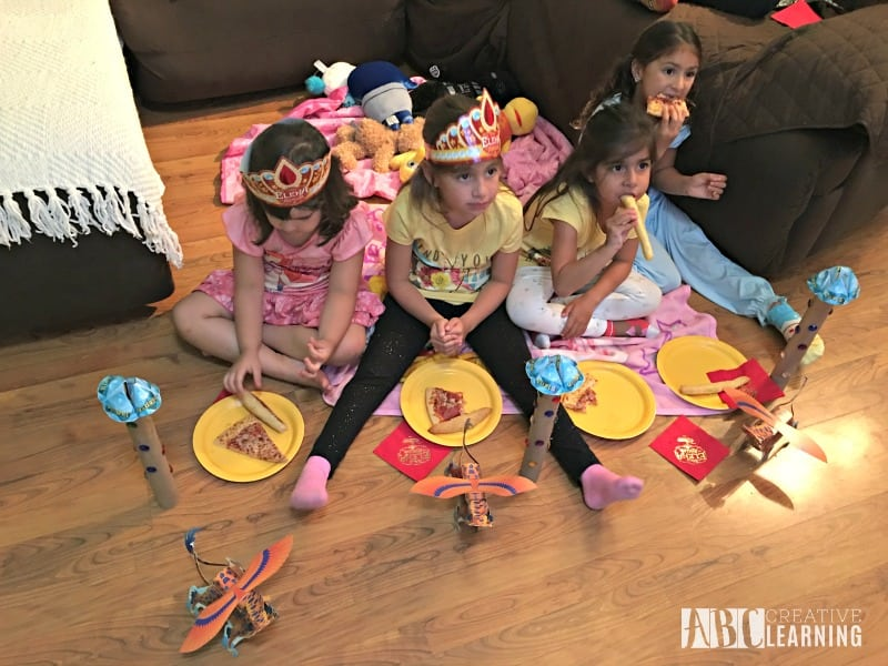 Disney's Elena of Avalor Royal Party Celebration pizza