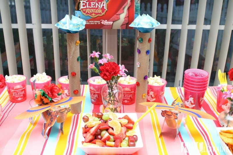 Disney's Elena of Avalor Royal Party Celebration table