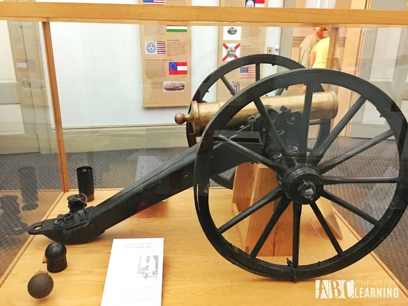 Family Travels To Florida Historic Capitol Museum cannon