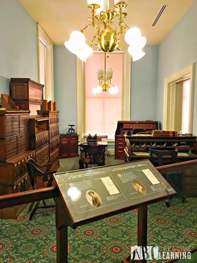 Family Travels To Florida Historic Capitol Museum office