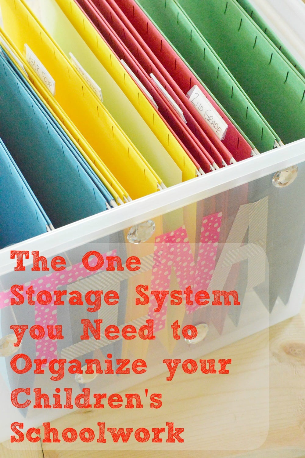 The One Storage System You Need To Organize Your Children's Work