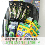 Paying It Forward Giving Back School Supplies #GivingBackPacks