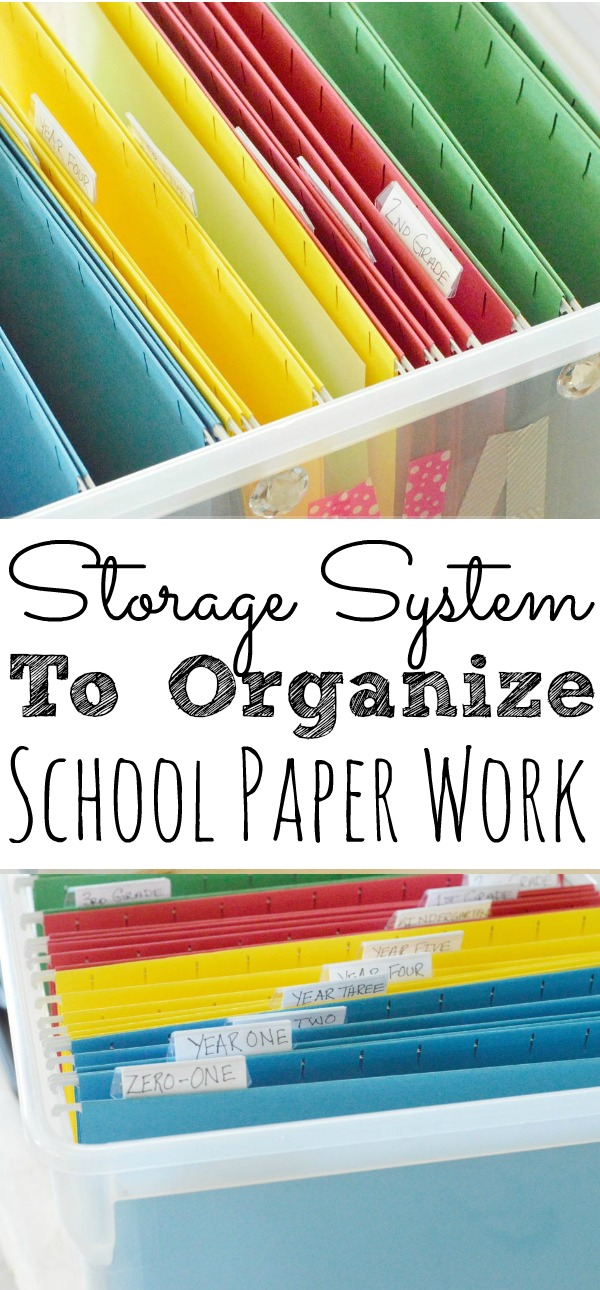One Storage System For Kids Schoolwork