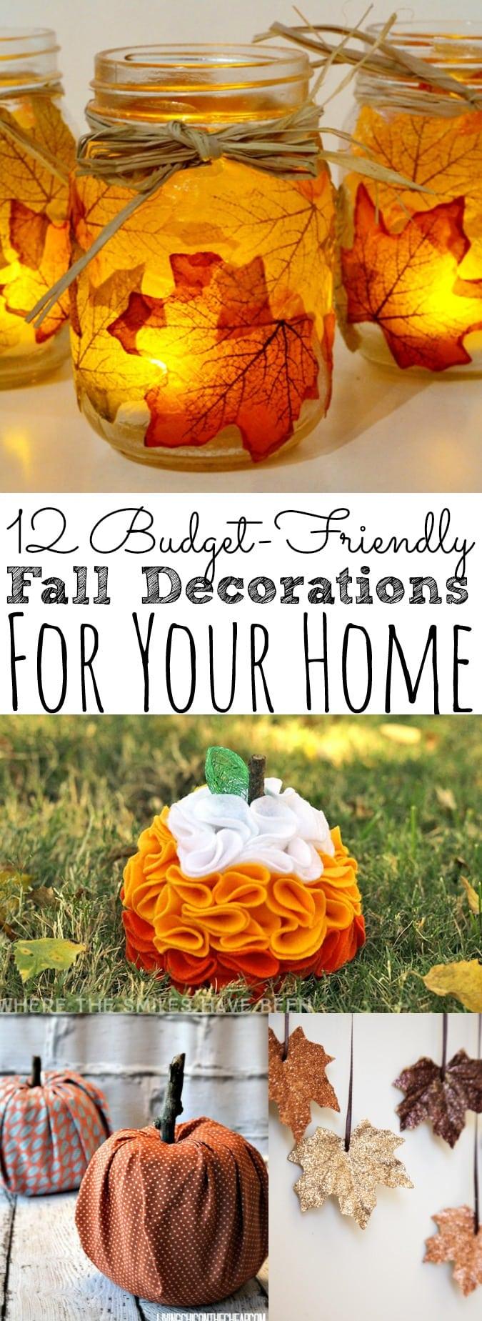12 Budget-Friendly Fall Decorations - simplytodaylife.com