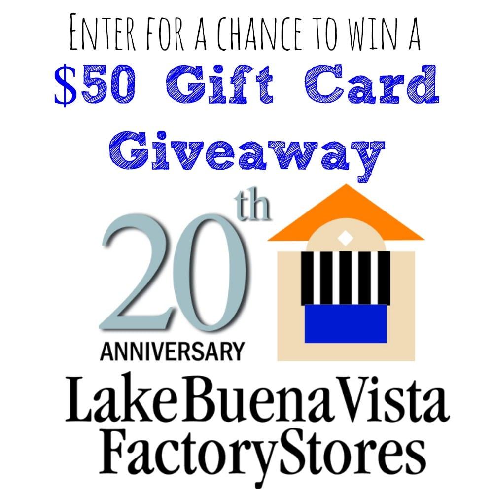 lake-buena-vista-factory-stores-20th-year-anniversary-event-gift-card-giveaway-ga-sq