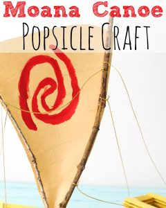 Moana Canoe Popsicle Craft #Moana