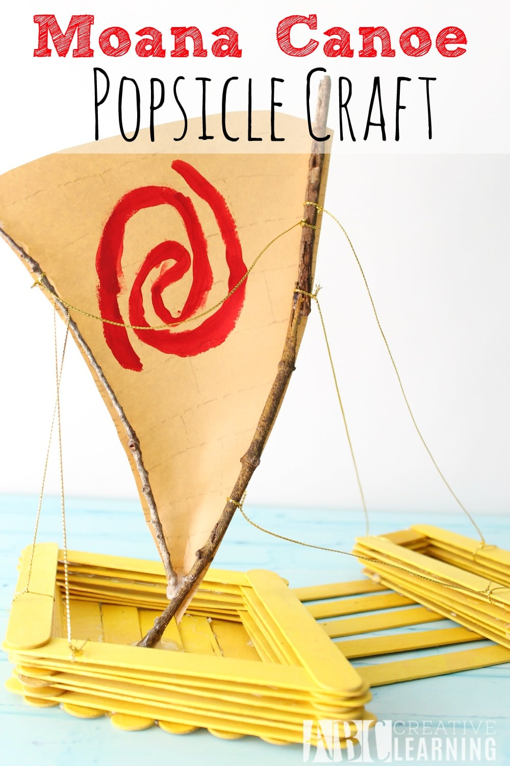 Moana Canoe Popsicle Craft