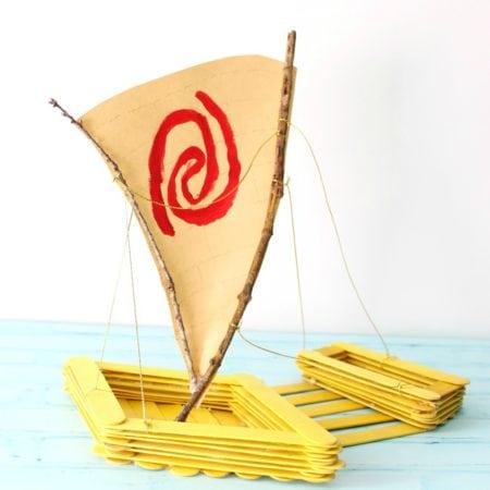 Moana Canoe Popsicle Craft #Moana