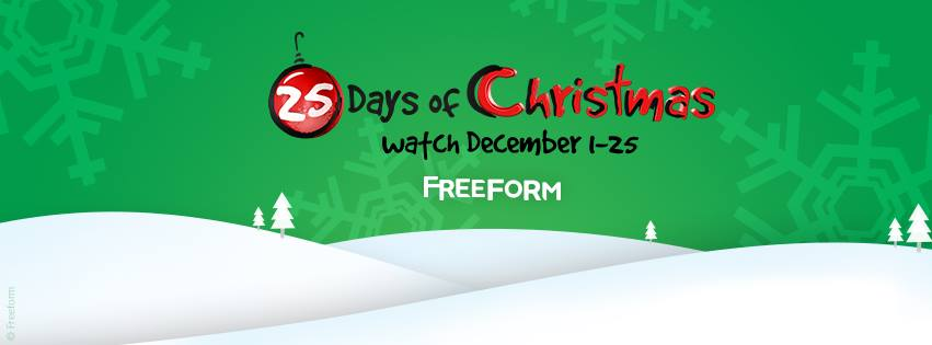 Freeform's 25 Days of Christmas Schedule #25DaysofChristmas