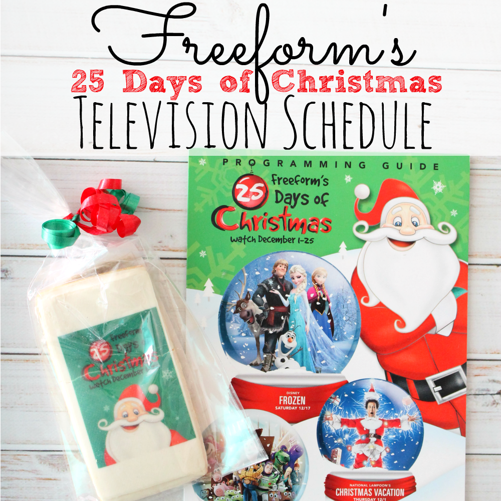 Freeform's 25 Days of Christmas Schedule #25DaysofChristmas ...