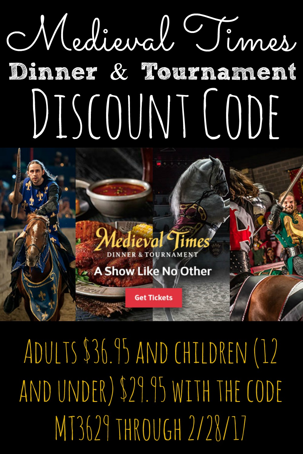 Discount coupon code medieval times