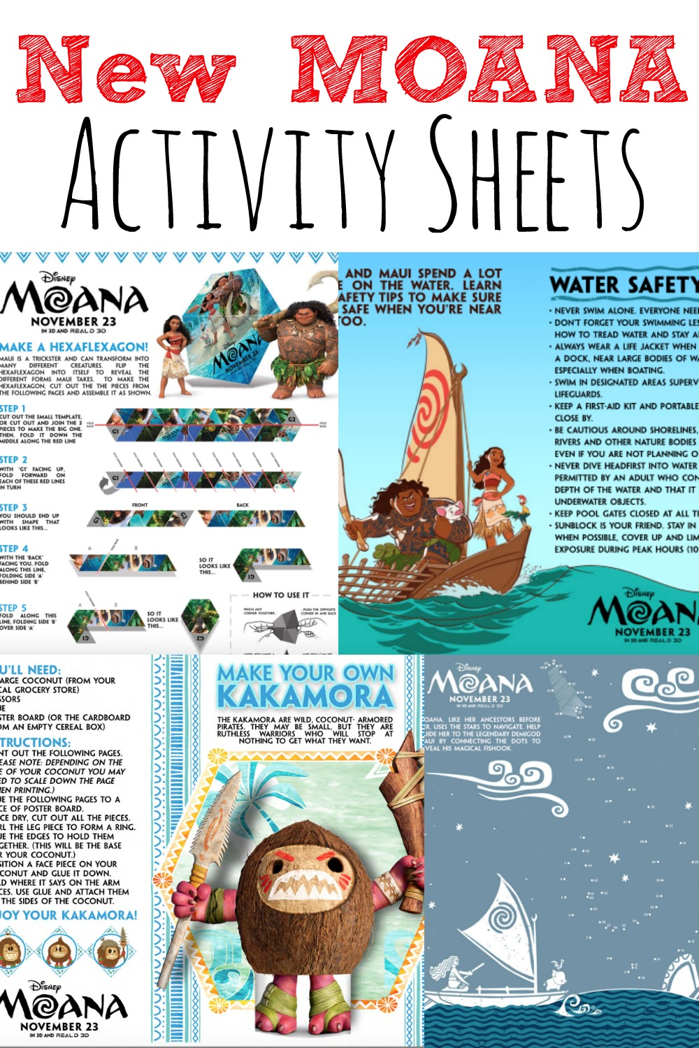 New MOANA Activity Sheets #MoanaEvent