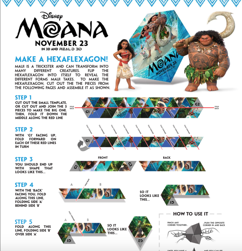 "Three thousand years ago, the greatest sailors in the world voyaged across the vast Pacific, discovering the many islands of Oceania. But then, for a millennium, their voyages stopped – and no one knows exactly why. From Walt Disney Animation Studios comes ""Moana,"" a sweeping, CG-animated feature film about an adventurous teenager who sails out on a daring mission to save her people. During her journey, Moana (voice of Auli'i Cravalho) meets the mighty demigod Maui (voice of Dwayne Johnson), who guides her in her quest to become a master wayfinder. Together, they sail across the open ocean on an action-packed voyage, encountering enormous monsters and impossible odds, and along the way, Moana fulfills the ancient quest of her ancestors and discovers the one thing she's always sought: her own identity. Directed by the renowned filmmaking team of Ron Clements and John Musker (""The Little Mermaid,"" ""Aladdin,"" ""The Princess & the Frog""), produced by Osnat Shurer (""Lifted,"" ""One Man Band""), and featuring music by Lin-Manuel Miranda, Mark Mancina and Opetaia Foa'i, ""Moana"" sails into U.S. theaters on Nov. 23, 2016."