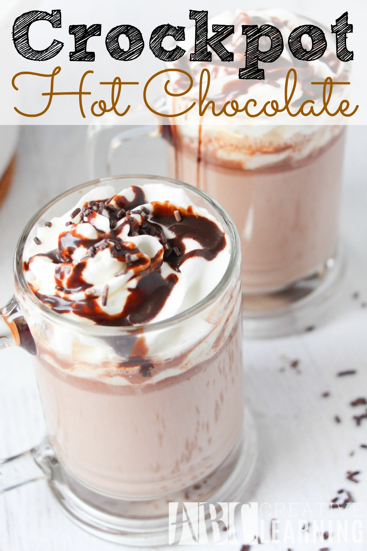 Crockpot Hot Chocolate Recipe - abccreativelearning.com