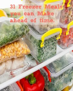 31 Freezer Meals You Can Make Ahead Of Time