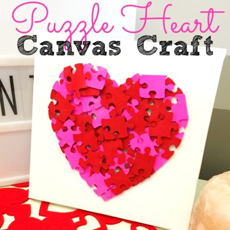 Puzzle Heart Canvas Craft
