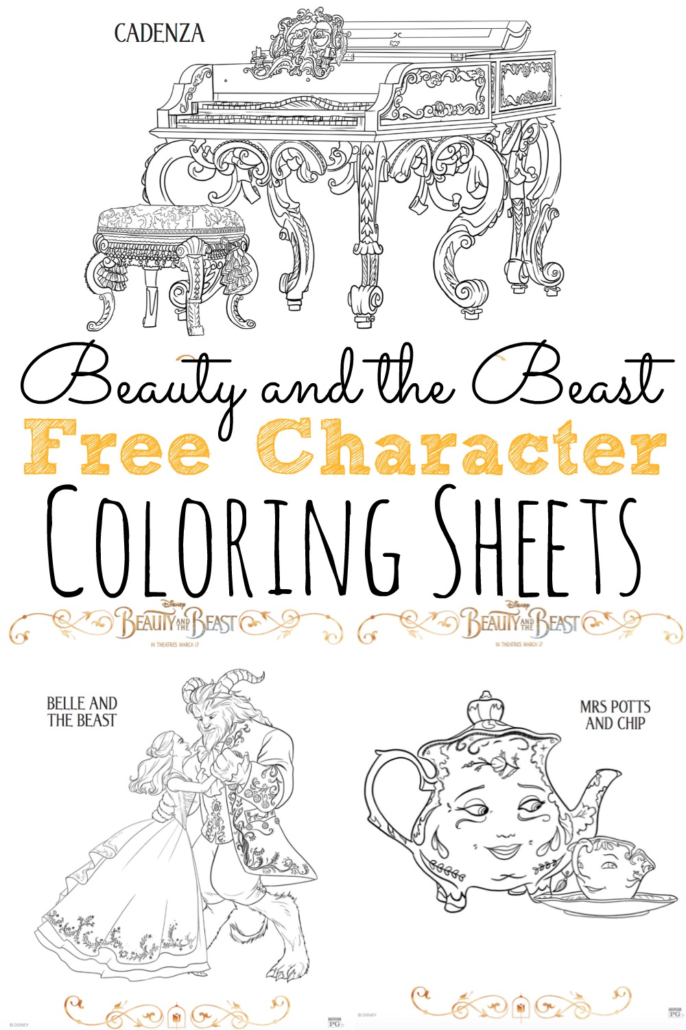 Free Be Our Guest Coloring Pages