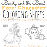 Beauty and the Beast Coloring Sheets #BeOurGuest #BeautyAndTheBeast