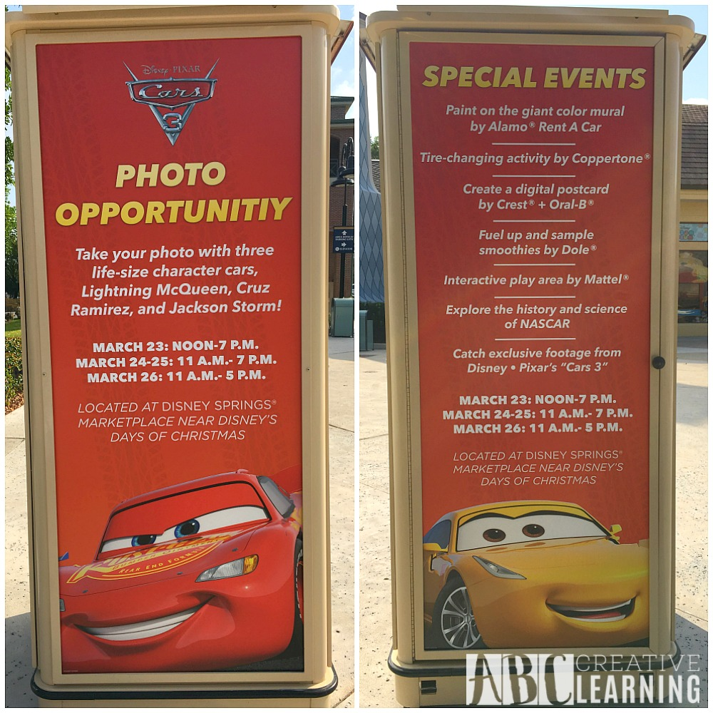 Disney Pixar Cars 3 NationWide Tour - Disney Springs