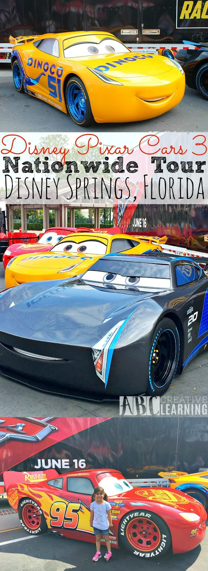 Disney Pixar Cars 3 NationWide Tour is going around the United States and their first stop is at Orlando, Florida's Disney Springs! Check out all the details and activities for the kiddos! Plus, meet your favorite Cars 3 characters like Lighting McQueen and newest character Cruz!- simplytodaylife.com