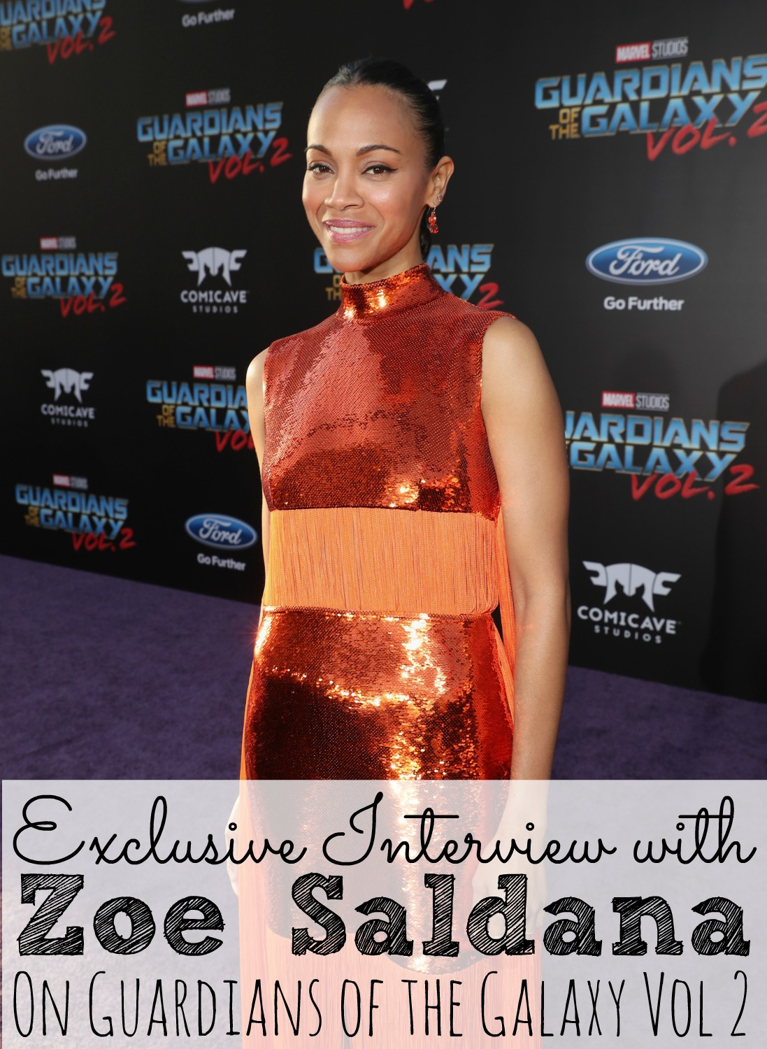Exclusive Interview with Zoe Saldana On Guardians of the Galaxy Vol 2