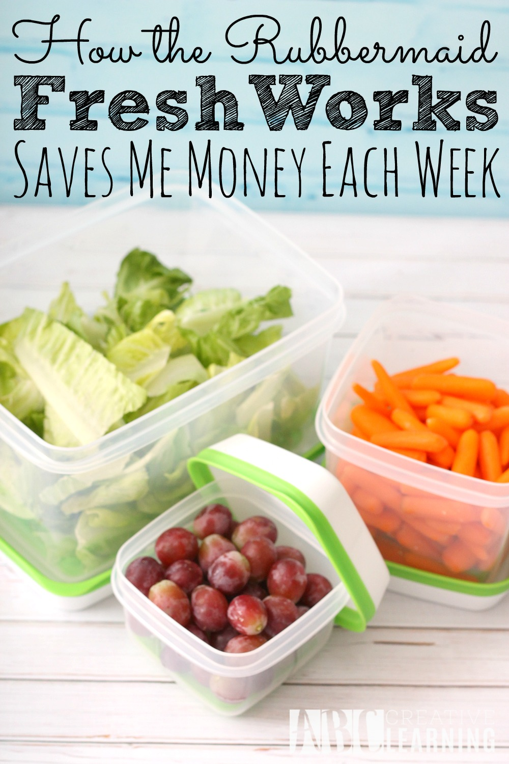 How The Rubbermaid FreshWorks Saves Me Money + Giveaway
