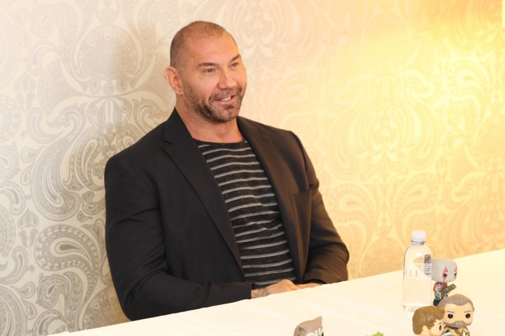 Exclusive Interview with Dave Bautista on Guardians of the Galaxy Vol 2 #GotGVol2Event