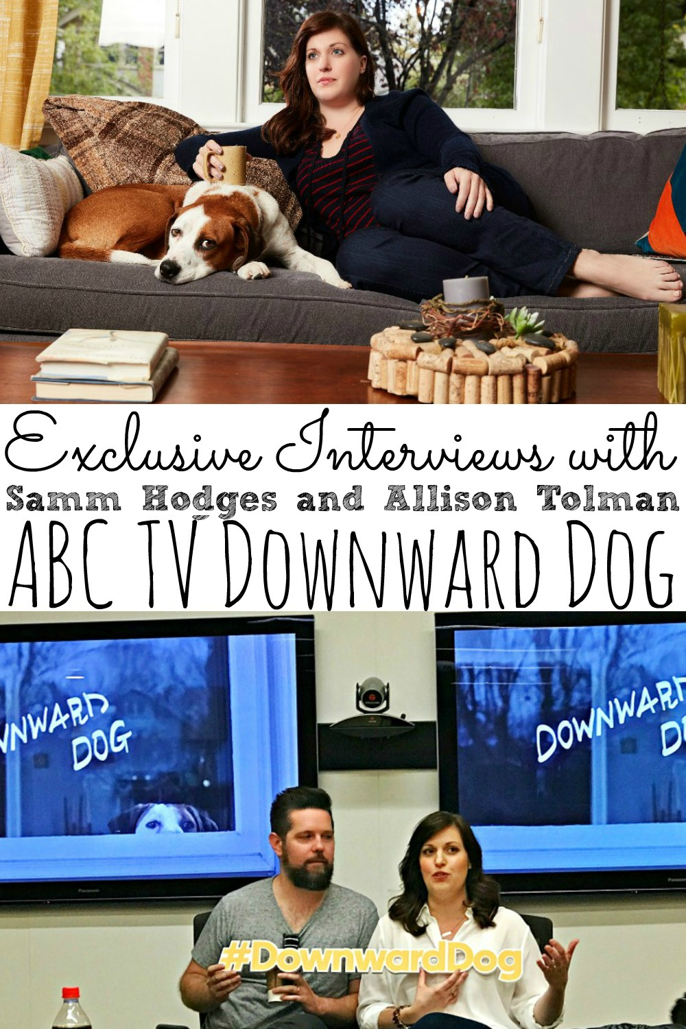 Samm Hodges and Allison Tolman Interview Downward Dog | A Show About A Dog? #DownwardDog