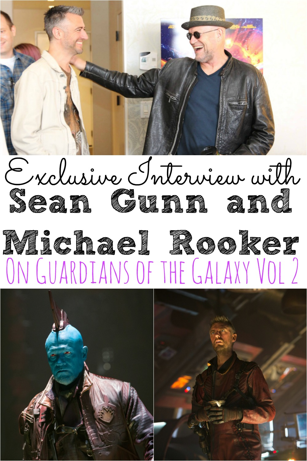 Sean Gunn and Michael Rooker Interview Guardians of the Galaxy Vol 2 | All About Yondu and Kraglin #GotGVol2Event - simplytodaylife.com