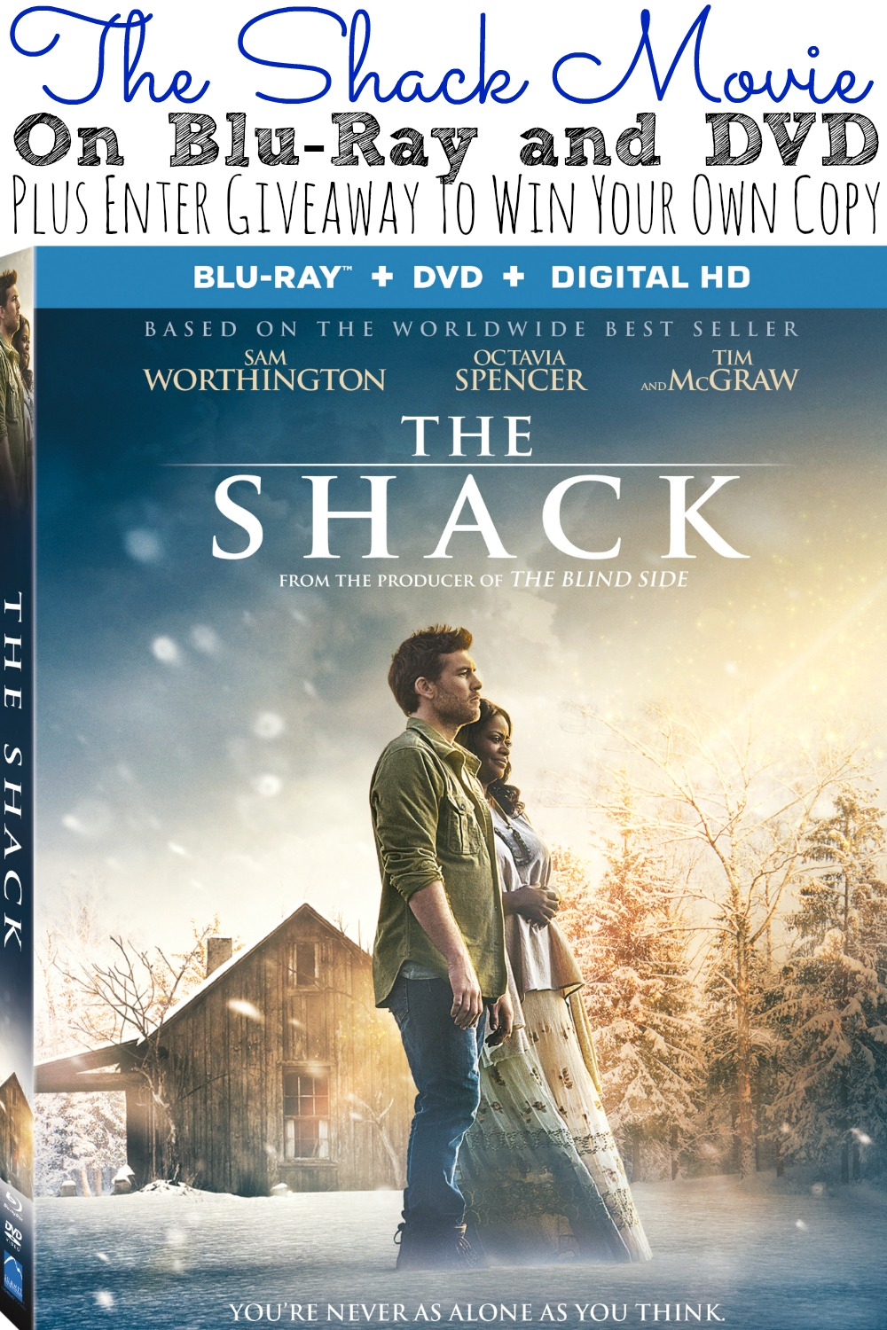 The Shack Movie On Blu-Ray and DVD + Giveaway - abccreativelearning.com