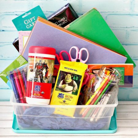 Back-To-School Teacher Survival Basket + Printables