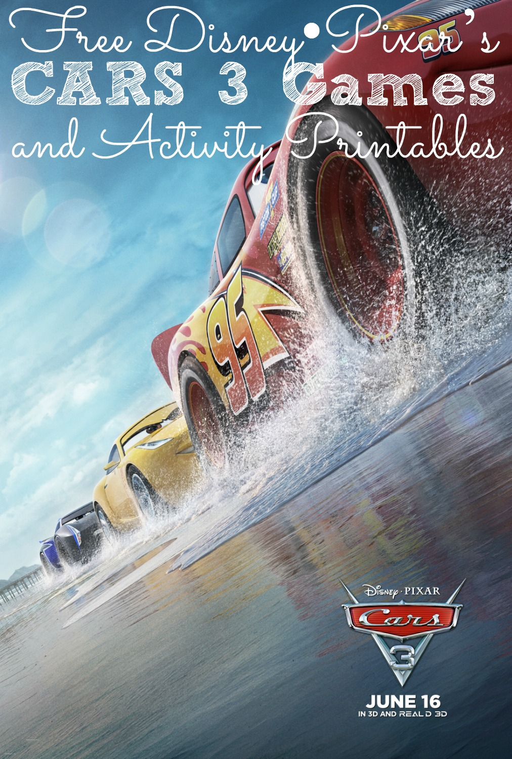 FREE Cars 3 Coloring Sheets
