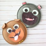 Rolly and Bingo Paper Plate Kids Craft Inspired by Disney Junior Puppy Dog Pals
