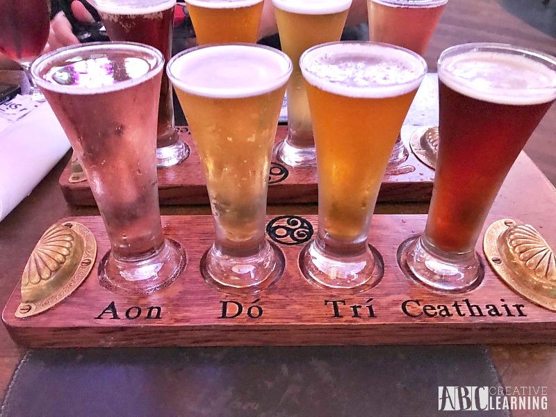 5 Reasons To Eat At Raglan Road At Disney Springs With The Family Beer Flights