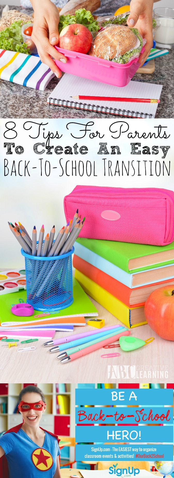 8 Tips For Parents to Create An Easy Back To School Transition - abccreativelearning.com