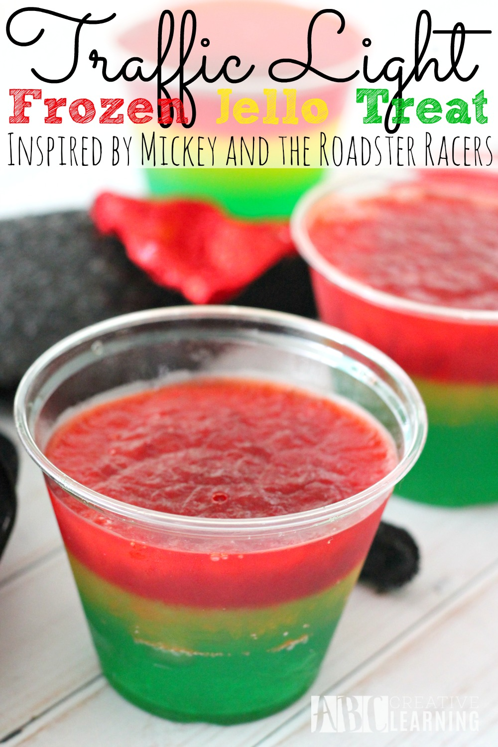 Traffic Light Frozen Jello Treat Mickey and the Roadster Racers