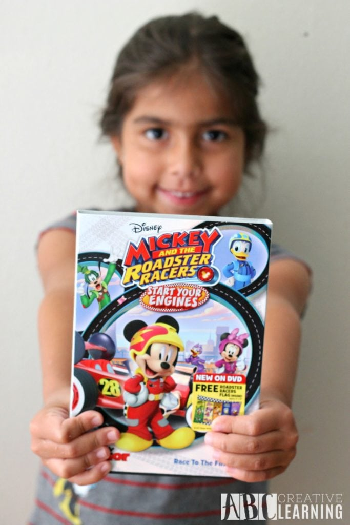 DIY Mickey and the Roadster Racers: Start Your Engines Glitter Slime + DVD Giveaway - Release date August 15th