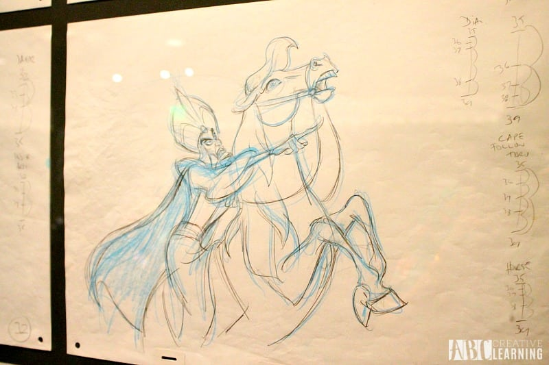 Deja View: The Art of Andreas Deja Details At The Walt Disney Family Museum - Jafar Drawing