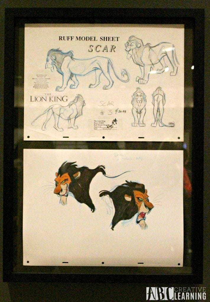 Deja View: The Art of Andreas Deja Details At The Walt Disney Family Museum - Scar Sheet