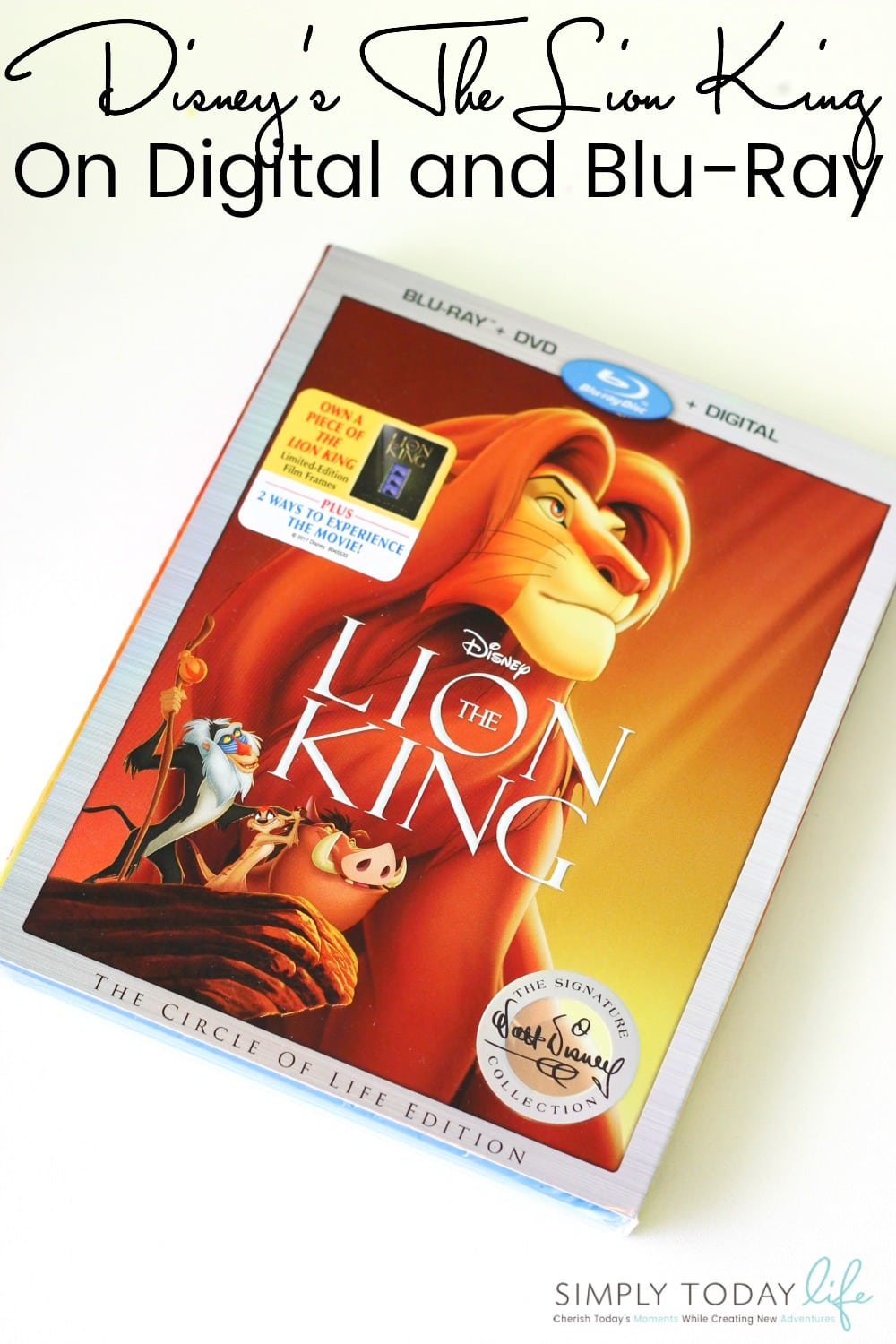 Disney's The Lion King On Digital and Blu-Ray DVD Details - Simply Today Life