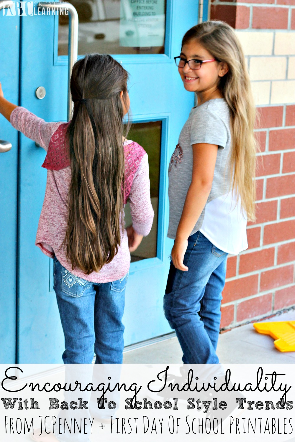 Encouraging Individuality With Back To School Style Trends From JCPenney + First Day Of School Printables and Girls Fashion - abccreativelearning.com