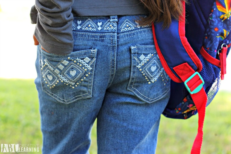 Encouraging Individuality With Back To School Style Trends From JCPenney + First Day Of School Printables - Stylish Denim For Girls