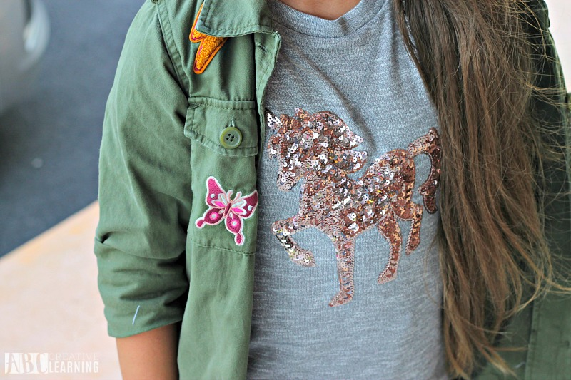 Encouraging Individuality With Back To School Style Trends From JCPenney + First Day Of School Printables - Unicorn Shirts For Girls